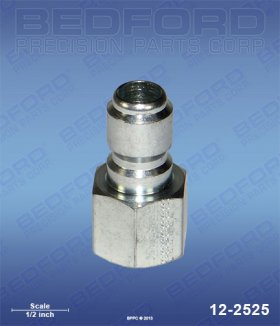 "3/8"" NPT(f) Quick Disconnect Plug, Plated Steel"